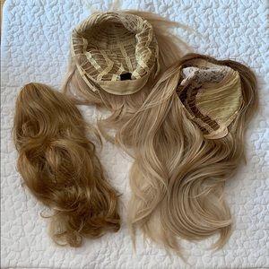 Accessories - 3pc Bundle Two wigs & ponytail